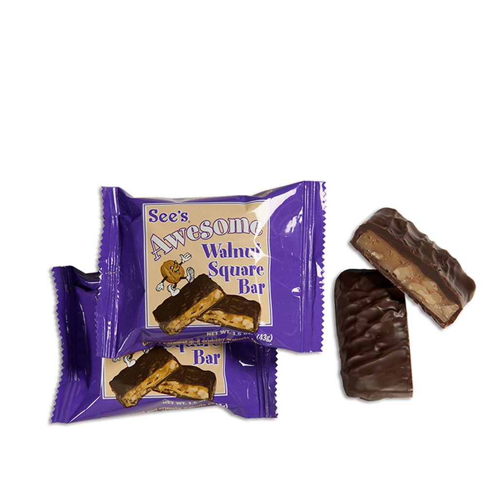 See's Awesome® Walnut Square Bars   See's Candies   Fundraising