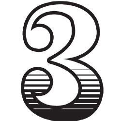 Illustration of the number three