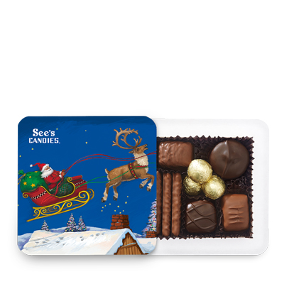 Santa Sleigh box of chocolates