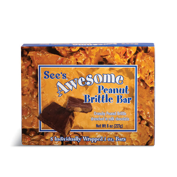 See's Awesome® Peanut Brittle Bars view 1