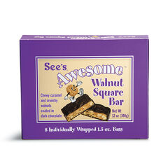 See's Awesome® Walnut Square Bars