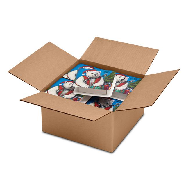 1 Carton (20 Boxes) of 4 oz Polar Bear Box