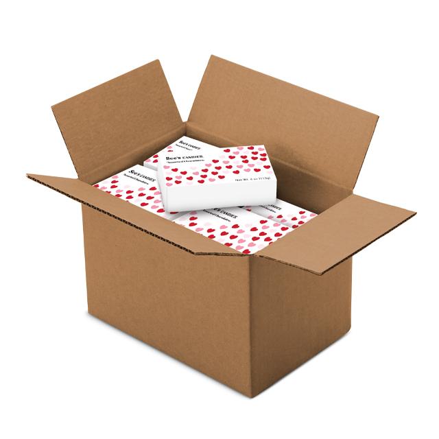 1 Carton (20 boxes) of 4 oz Mini Hearts Assortment