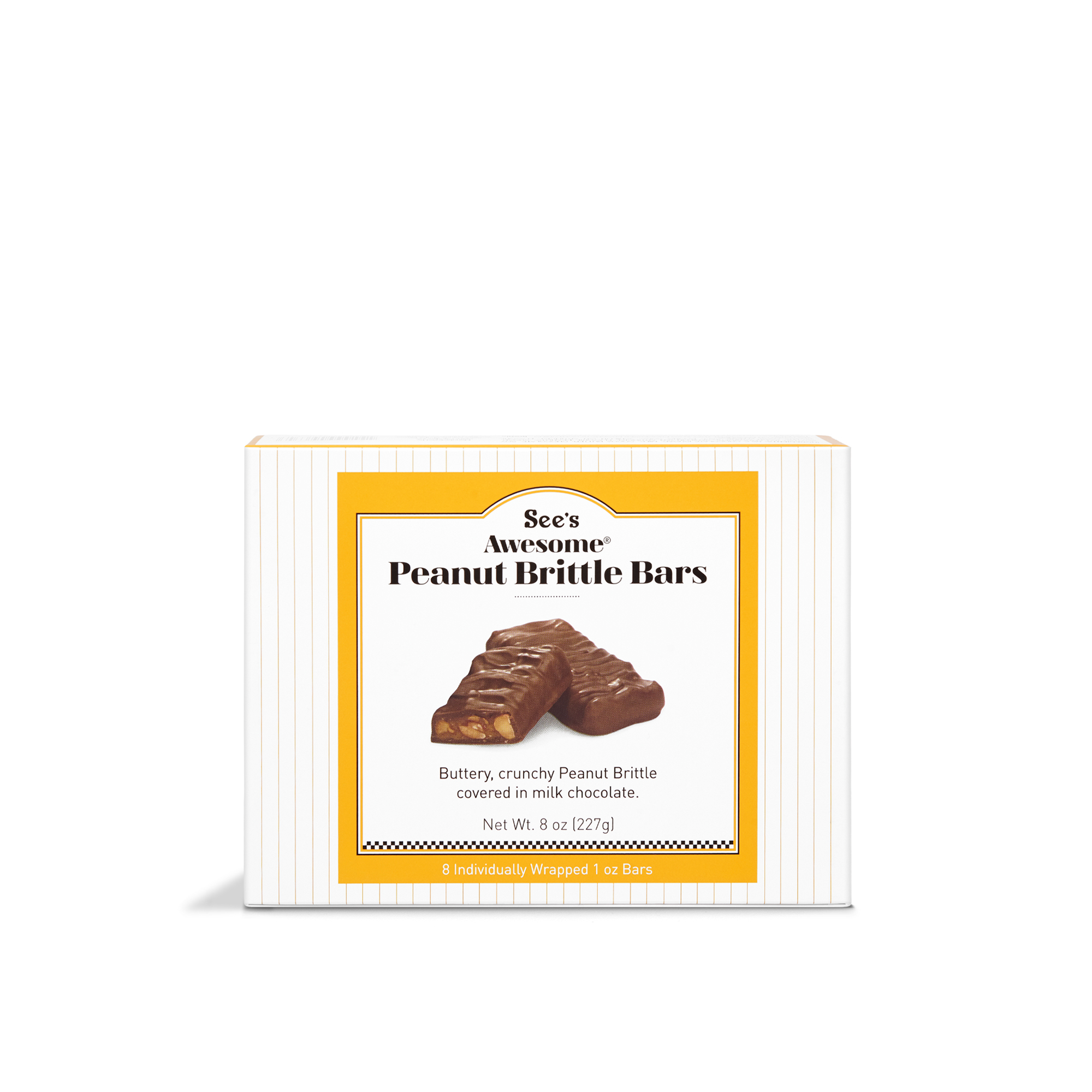 8 oz See's Awesome® Peanut Brittle Bars