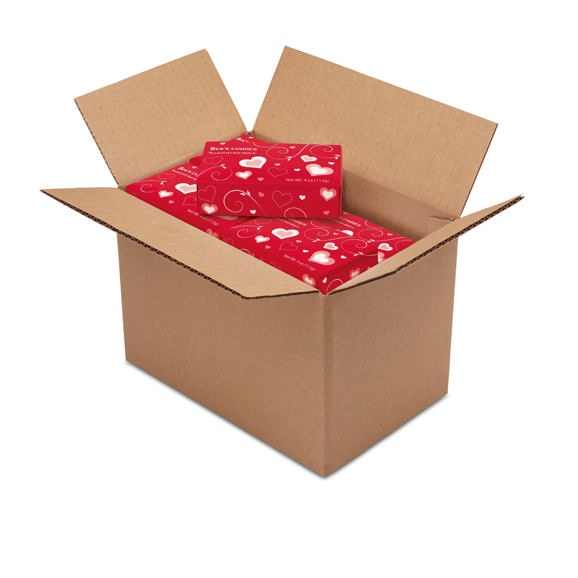 1 Carton (20 boxes) of 4 oz Mini Cupid Assortment