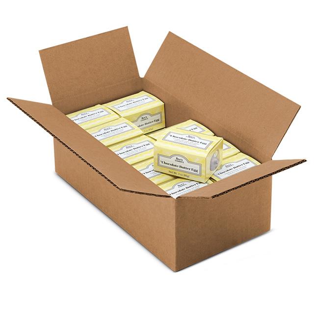 1 Carton (20 boxes) of 3 oz Chocolate Butter Egg