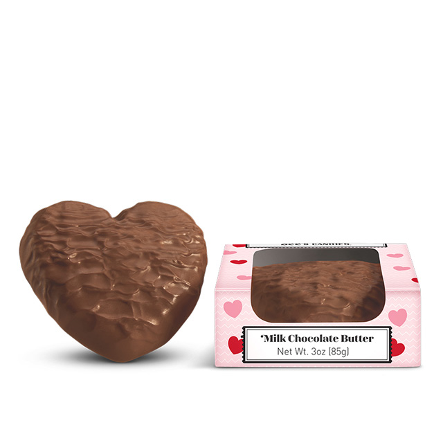 3 oz Milk Chocolate Butter Heart