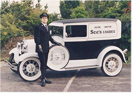 See's vintage delivery vehicle