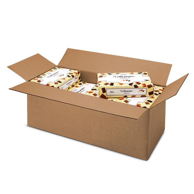 1 Carton (16 boxes) of 1 lb 5 oz Assorted Lollypops