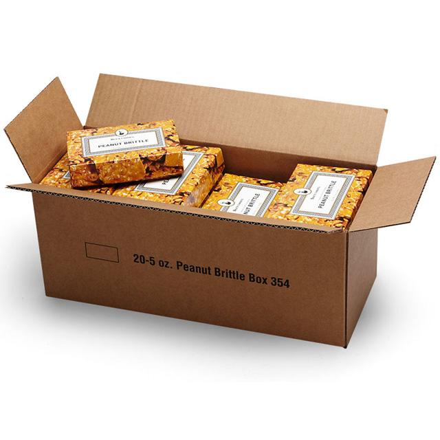 1 Carton (20 Boxes) of 5 oz Peanut Brittle
