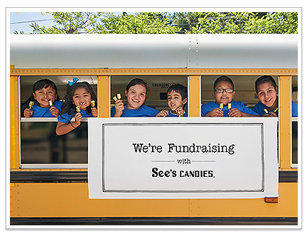 Photograph of San Mateo Park Elementary student fundraisers