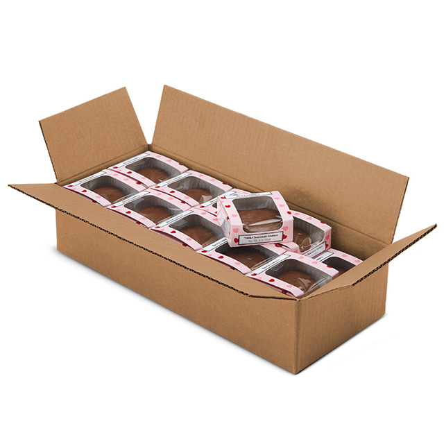 1 Carton (20 boxes) of 3 oz Milk Chocolate Butter Heart