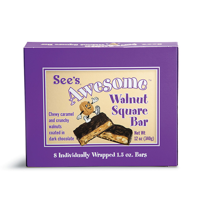 12 oz See's Awesome® Walnut Square Bars
